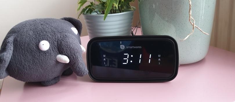 digitale wekker op 3.11 uur
